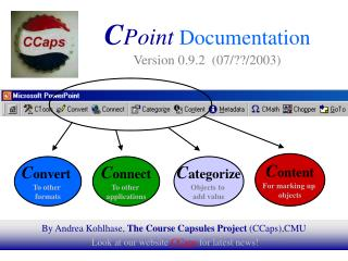 C Point Documentation Version 0.9.2  (07/??/2003)