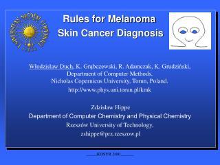 Rules for Melanoma  Skin Cancer Diagnosis