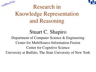 Research in Knowledge Representation and Reasoning