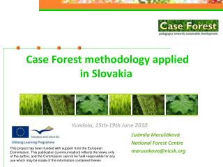 Case Forest methodology applied  in Slovakia