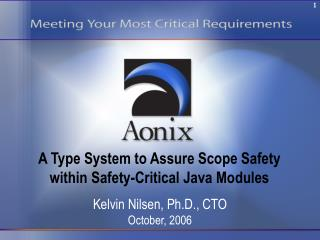 A Type System to Assure Scope Safety within Safety-Critical Java Modules