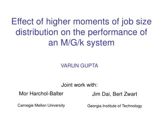 Effect of higher moments of job size distribution on the performance of an M/G/k system