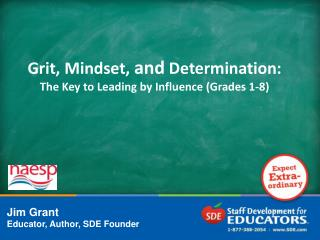 Grit, Mindset,  and  Determination: The Key to Leading by Influence (Grades 1-8)