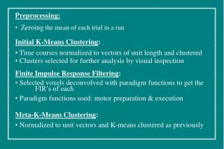 Initial K-Means Clustering :