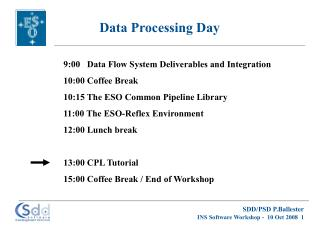 Data Processing Day