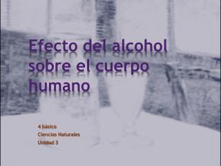 Efecto del alcohol sobre el cuerpo humano