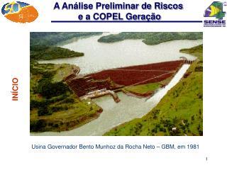 Usina Governador Bento Munhoz da Rocha Neto – GBM, em 1981