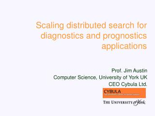 Scaling distributed search for diagnostics and prognostics applications