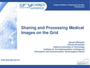 Sharing and Processing Medical Images on the Grid