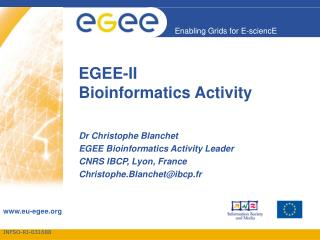 EGEE-II Bioinformatics Activity