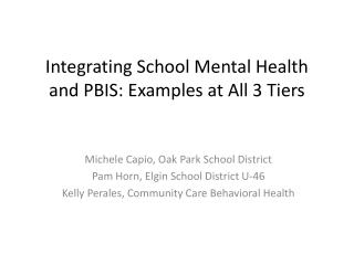 Integrating School Mental Health and PBIS: Examples at All 3 Tiers