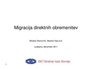 Migracija direktnih obremenitev