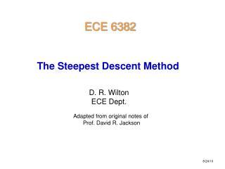 D. R. Wilton ECE Dept.