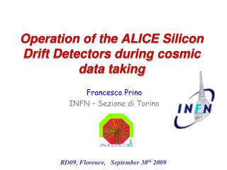 Operation of the ALICE Silicon Drift Detectors during cosmic data taking