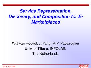 Service Representation, Discovery, and Composition for E-Marketplaces