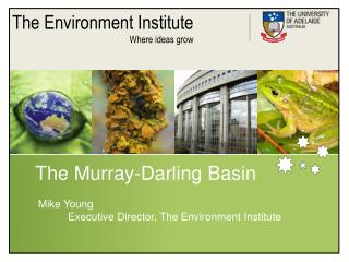 The Murray-Darling Basin  Mike Young            Executive Director, The Environment Institute
