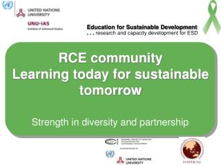 RCE community Learning today for sustainable tomorrow