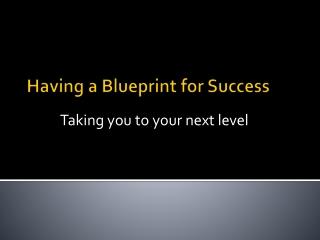 Blue Print Success