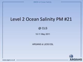 Level 2 Ocean Salinity PM #21