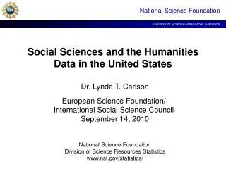 Social Sciences and the Humanities Data in the United States
