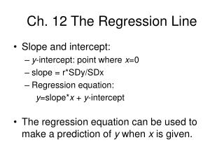 Ch. 12 The Regression Line