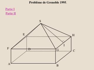 Problème de Grenoble 1995 .