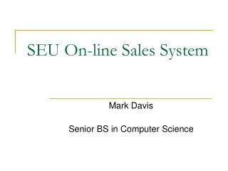 SEU On-line Sales System