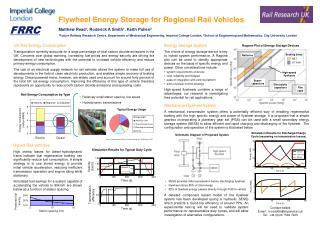Flywheel Energy Storage for Regional Rail Vehicles