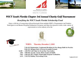 WICT South Florida Chapter 3rd Annual Charity Golf Tournament