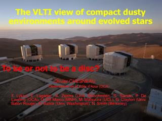 The VLTI view of compact dusty environments around evolved stars