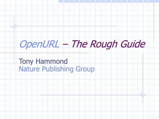 OpenURL  – The Rough Guide
