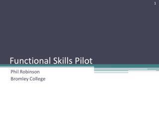 Functional Skills Pilot