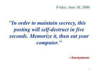 Friday, June 16, 2006