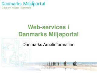 Web-services i  Danmarks Miljøportal