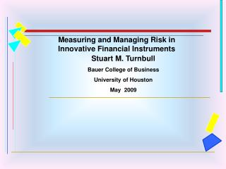 Measuring and Managing Risk in Innovative Financial Instruments