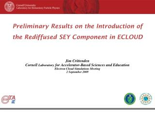Preliminary Results on the Introduction of  the Rediffused SEY Component in ECLOUD