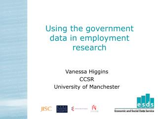 Using the government data in employment research