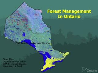 Forest Management In Ontario