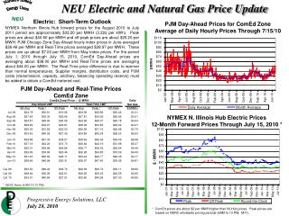 NYMEX N. Illinois Hub Electric Prices 12-Month Forward Prices Through July 15, 2010 *