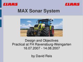 MAX Sonar System