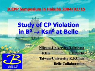 Study of CP Violation  in B 0   Ksπ 0  at Belle
