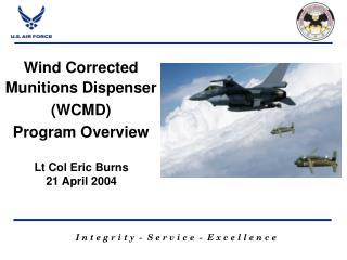 Lt Col Eric Burns 21 April 2004