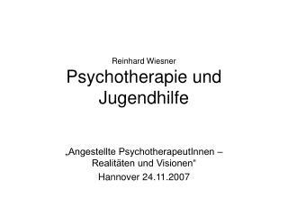 Reinhard Wiesner Psychotherapie und Jugendhilfe