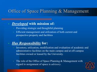 Office of Space Planning & Management