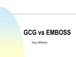 GCG vs EMBOSS