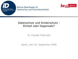 Datenschutz und Kinderschutz - Einheit oder Gegensatz?