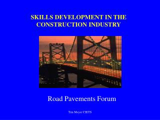 SKILLS DEVELOPMENT IN THE CONSTRUCTION INDUSTRY