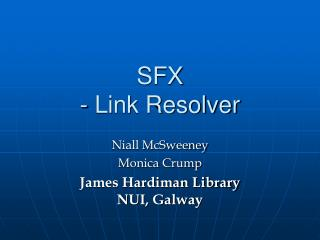 SFX - Link Resolver