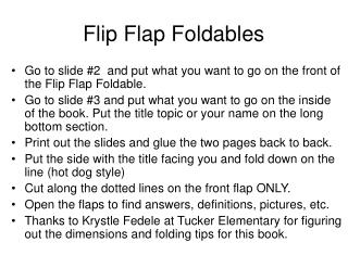 Flip Flap Foldables