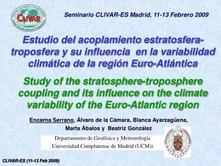 Departamento de Geofísica y Meteorología Universidad Complutense de Madrid (UCM))